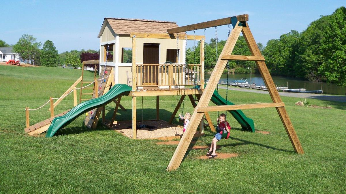 How To Build A Swing Set For The Playhouse Ana White