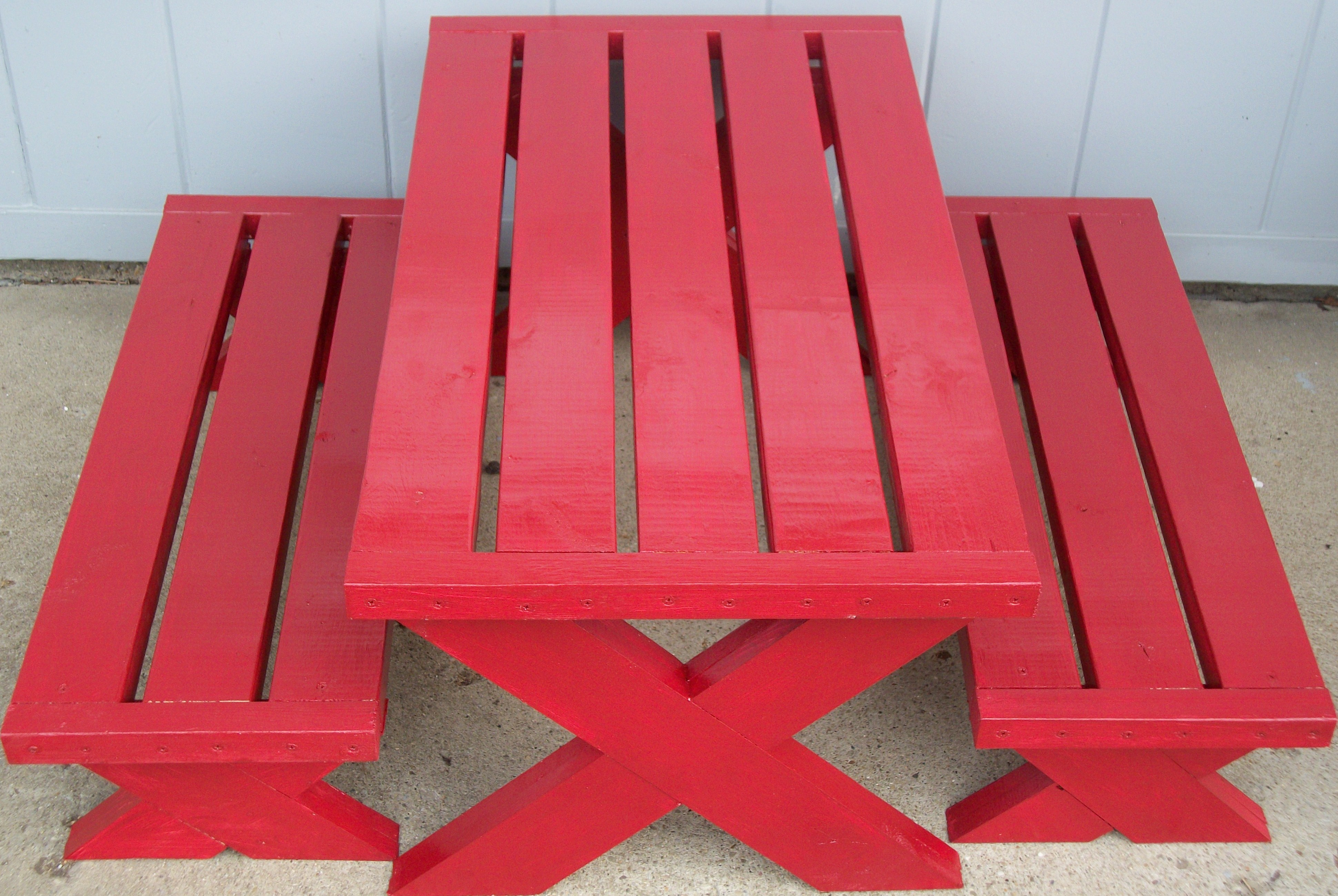 Ana White | Build a modern childs picnic table or x ...