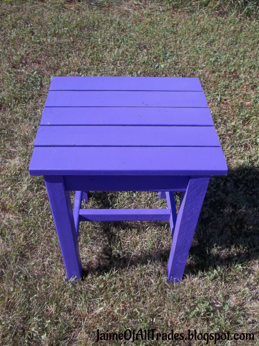 Ana white kid sized adirondack end table diy projects for Adirondack side table plans