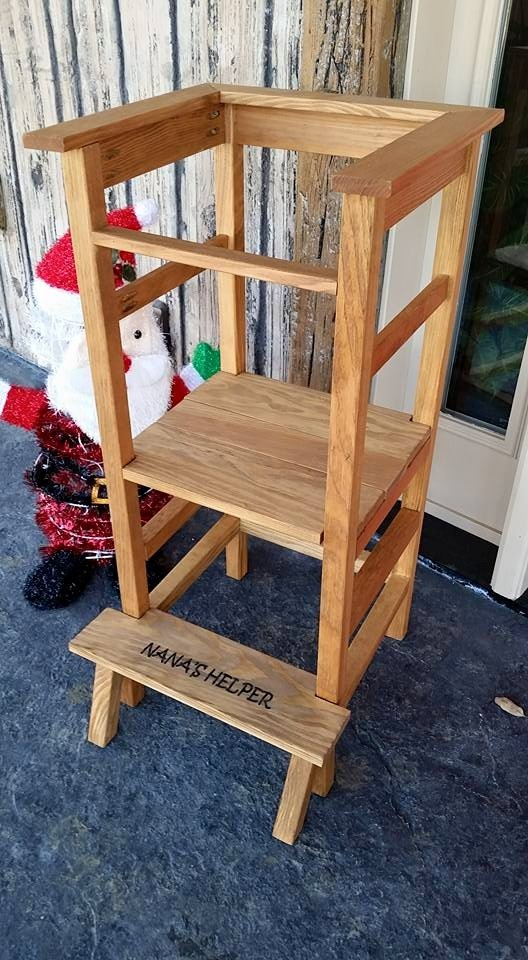 30 Built It Yourself Log Cabin Plans I Absolutely Like: Standing High Chair - DIY Projects