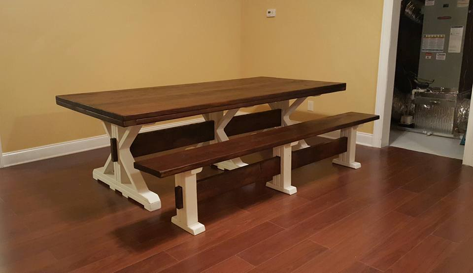 8 Foot Farm Table