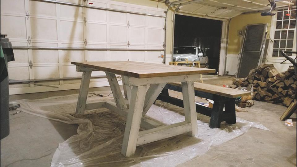 Ana White 4x4 Truss Beam Table Diy Projects