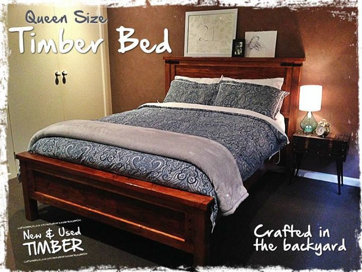 Ana white queen pallet wood bed diy projects for White pallet bed