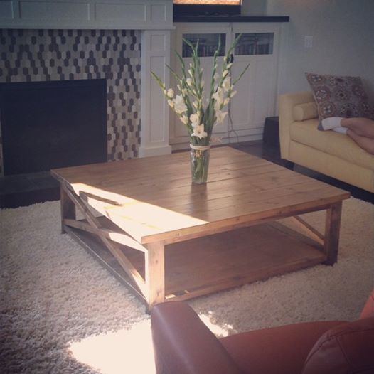 Square X Coffee Table