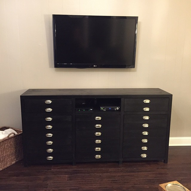 Ana White Triple Printer S Cabinet Media Console Diy