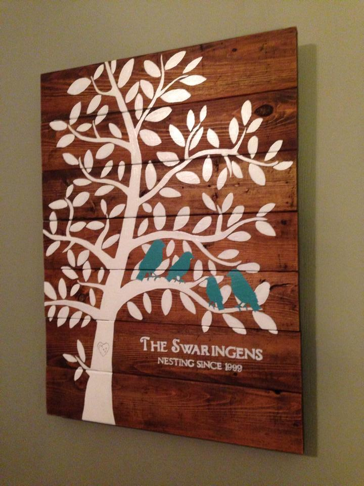 Ana White Family Tree Nesting Birds Sign Diy Projects