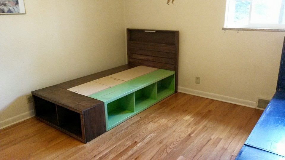 ana white twin captains beds for twins diy projects. Black Bedroom Furniture Sets. Home Design Ideas
