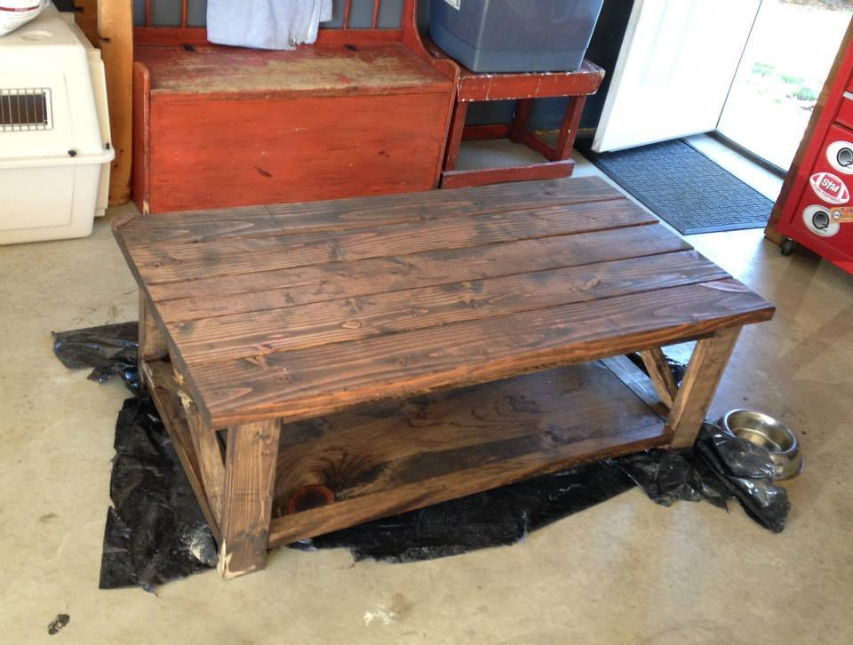 ana white diy rustic x coffee table diy projects. Black Bedroom Furniture Sets. Home Design Ideas