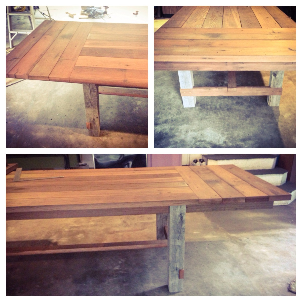 Ana White | 12 Ft Farmhouse Table With Extensions   Reclaimed Wood   DIY  Projects