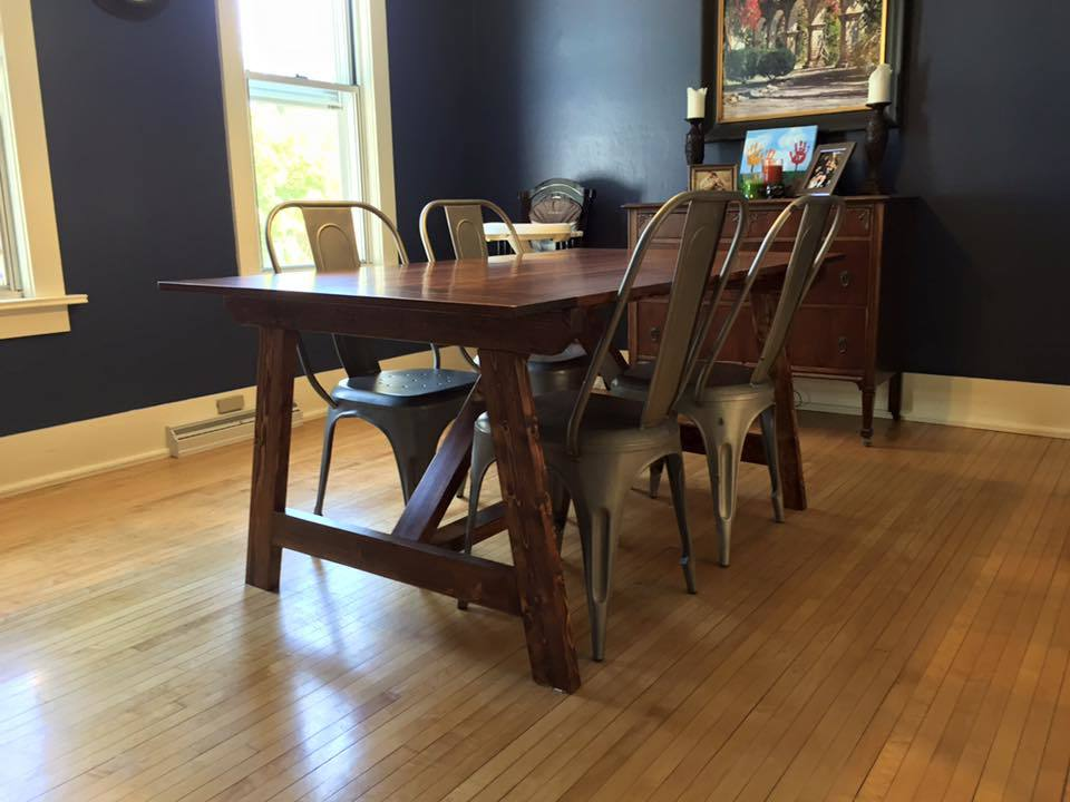 Ana white 2x4 truss table modified diy projects for Dining room table 2x4