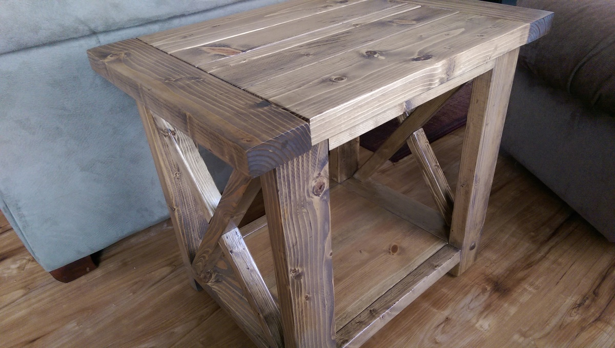 Ana White | Modified Rustic X End Table - DIY Projects