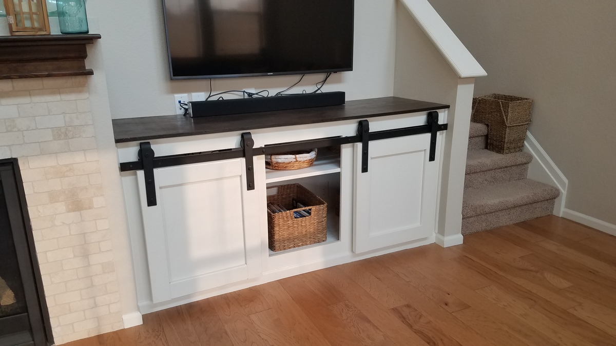 Ana White Built In Sliding Door Console Diy Projects