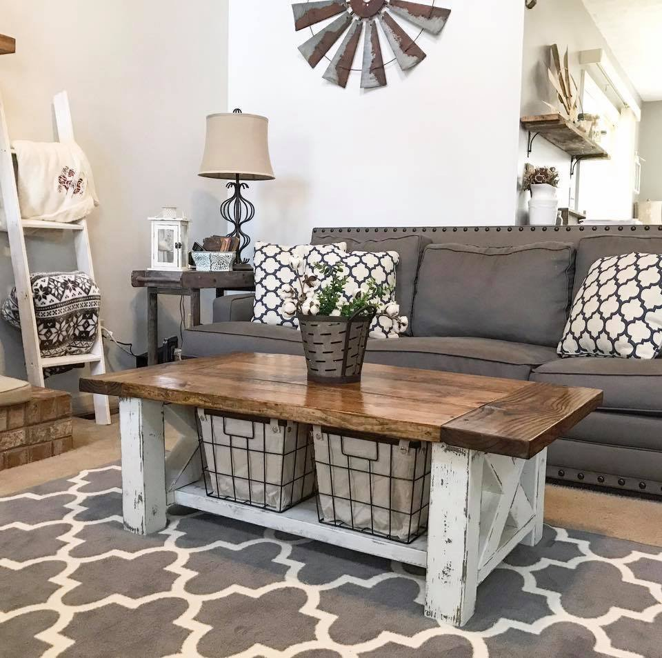 Beautiful Chunky Farmhouse Coffee Table