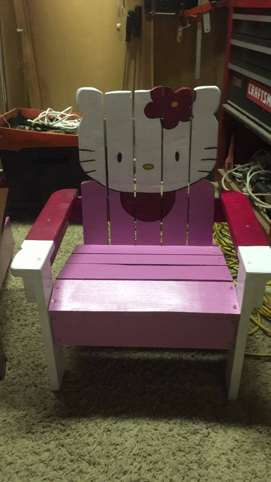 Ana White Hello Kitty Adirondack Chair Diy Projects