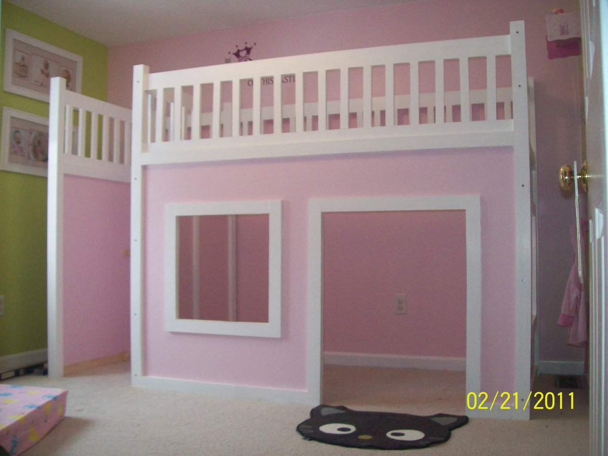 Download Playhouse Loft Bed Building Plans Plans Free