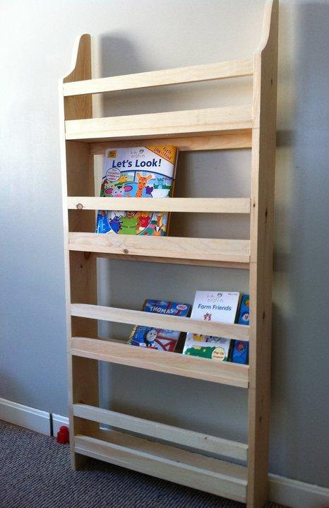 Flat Wall Book Shelves In A Childrens Room