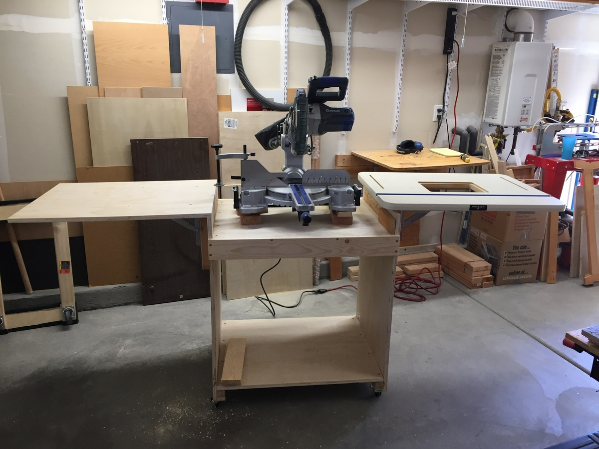 Awesome Portable Miter Saw Station Ana White Ncnpc Chair Design For Home Ncnpcorg