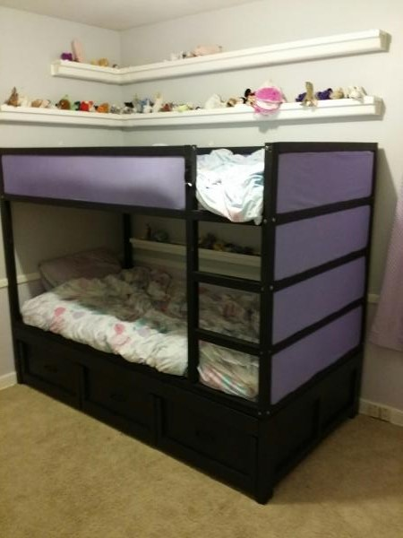 Daybed Converted To Fit Ikea Kura Bunk Bed Ana White
