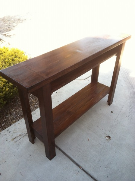 Walnut Console Table And Matching End Table Ana White