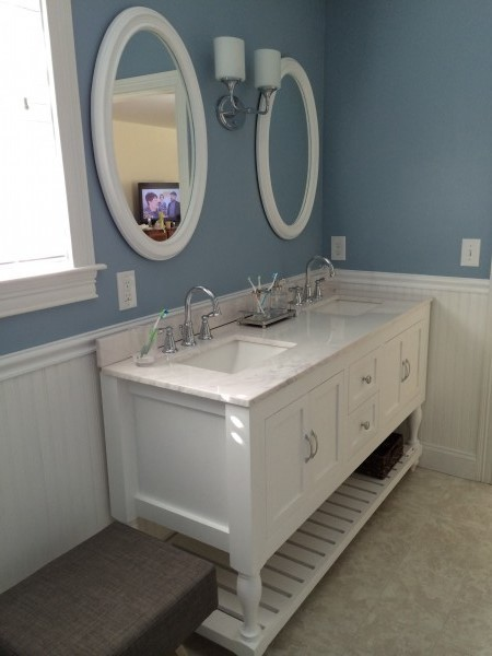 Ana White 62 Quot Turned Leg Vanity Diy Projects