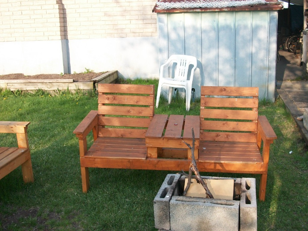 Surprising Diy Double Chair Bench With Table Ana White Caraccident5 Cool Chair Designs And Ideas Caraccident5Info