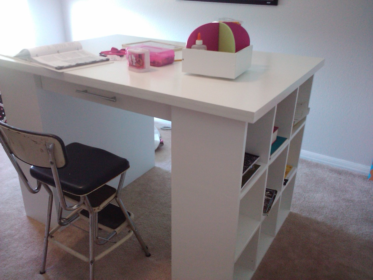 ana white craft table white craft table diy projects 3337