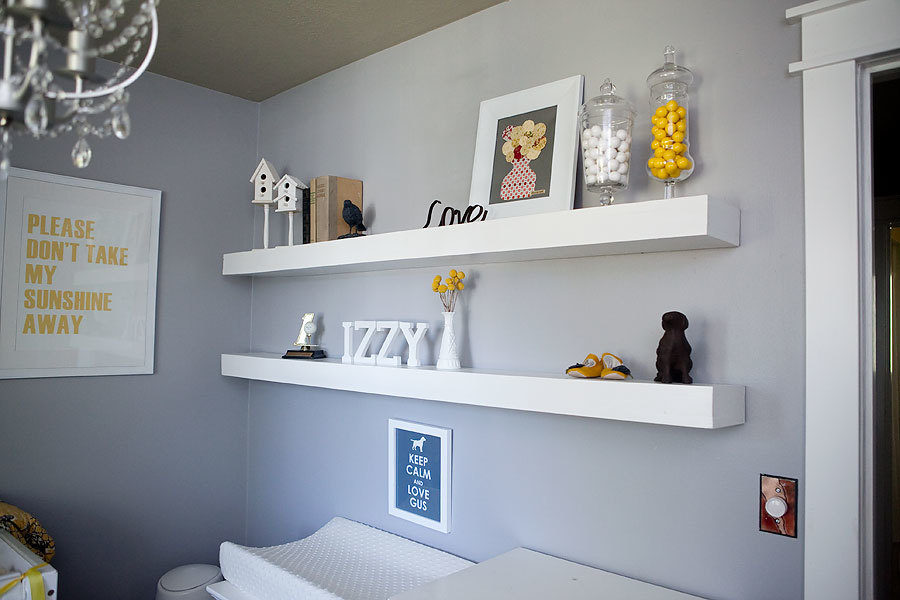 nursery floating shelves white nursery shelves diy projects 1118