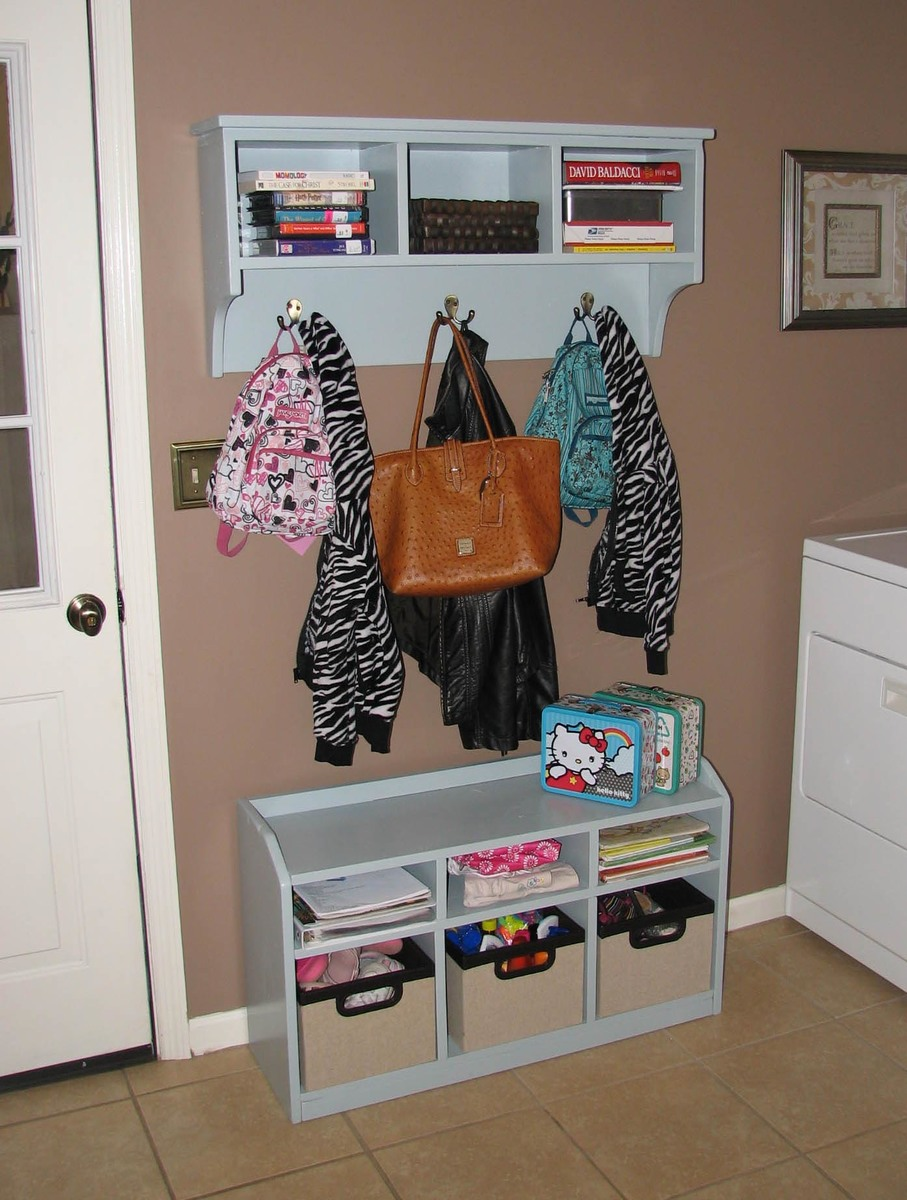 Charmant Built From Plan(s). Entryway Bench And Storage Shelf With Hooks · Perfect  Cubby Bench