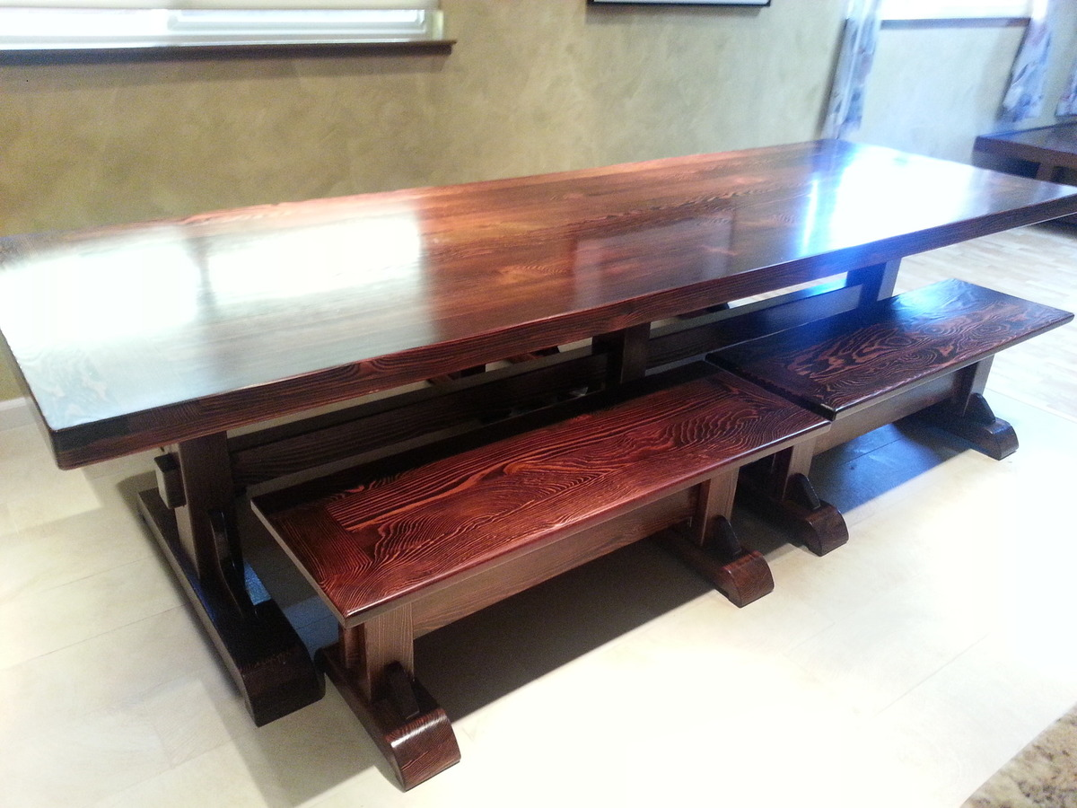 Farmhouse Table And Benches - DIY Projects