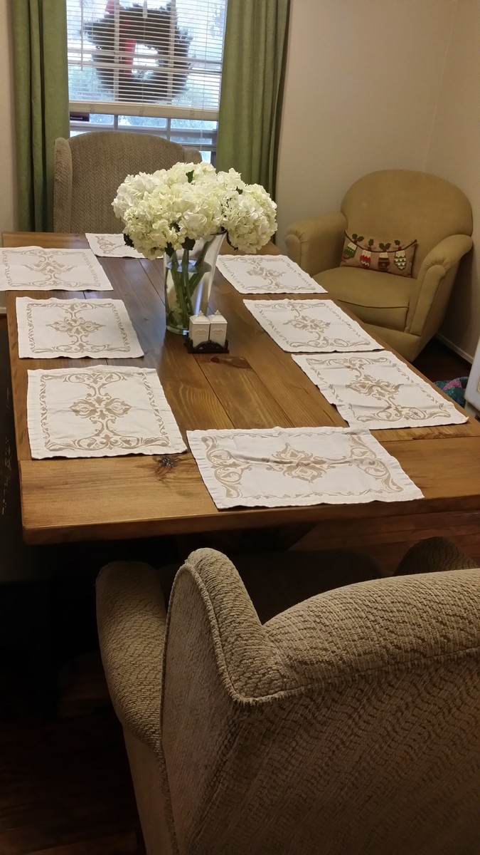 Ana white fancy x farmhouse table with 4x4 base diy for Fancy farmhouse