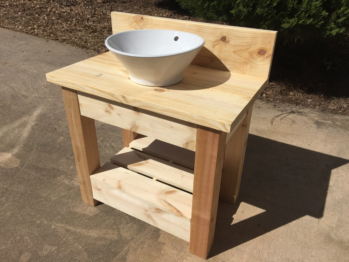 Wholesteading Com Farmhouse Style Vanity With Vessel Sink