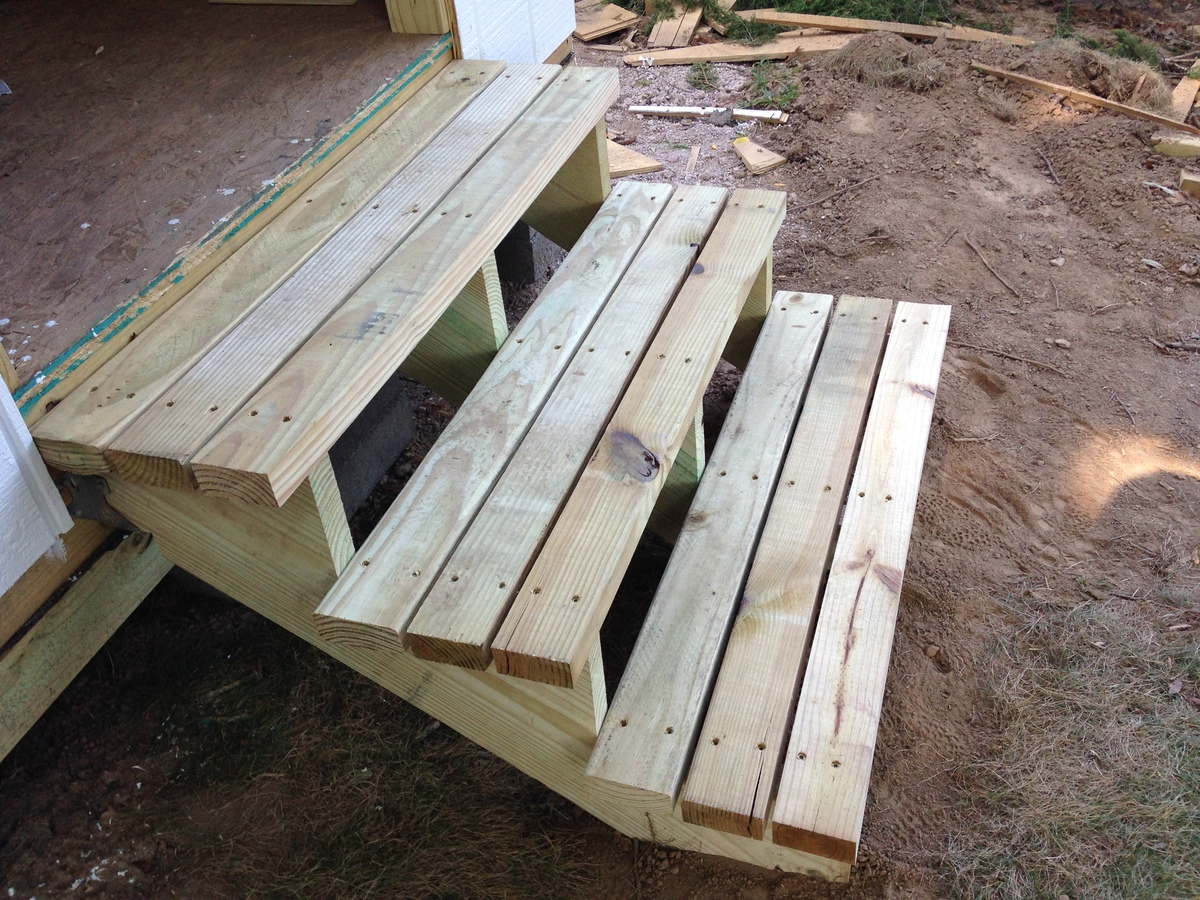 Ana White | DIY storage shed with mower ramp and steps ...