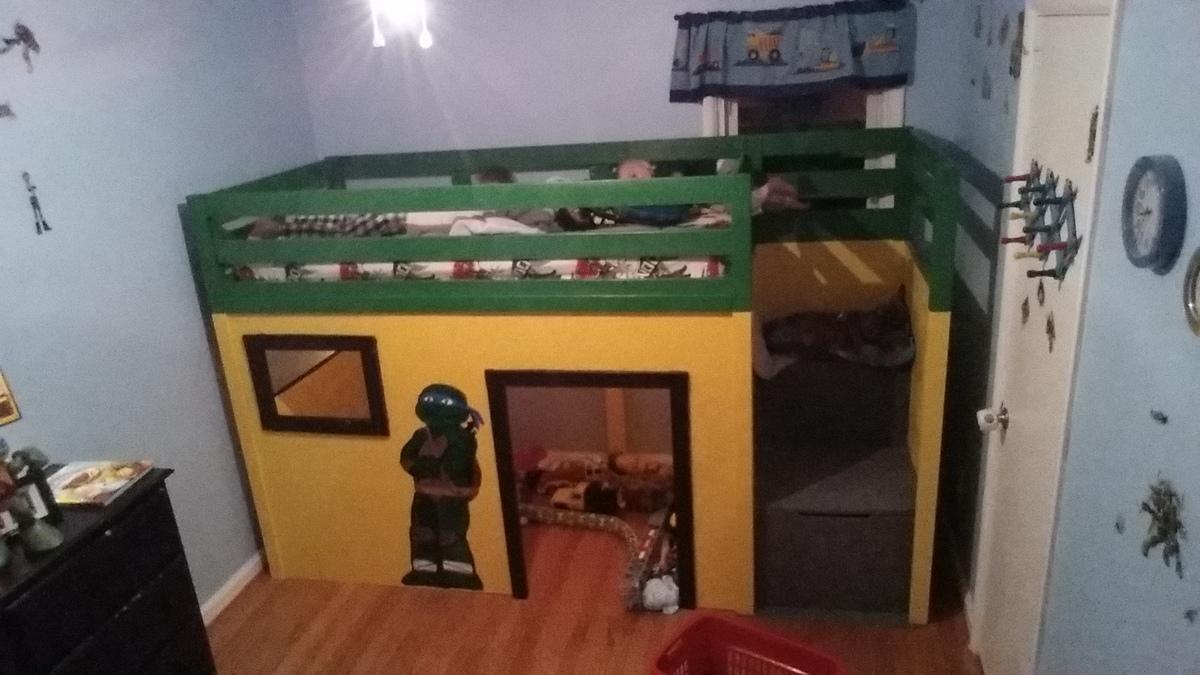 Ana White | Ninja turtle loft bed - DIY Projects