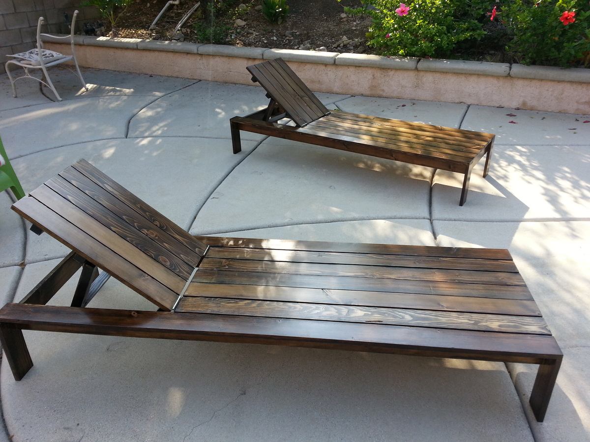 White Pool Lounge Chairs: Pool Lounge Chairs - DIY Projects