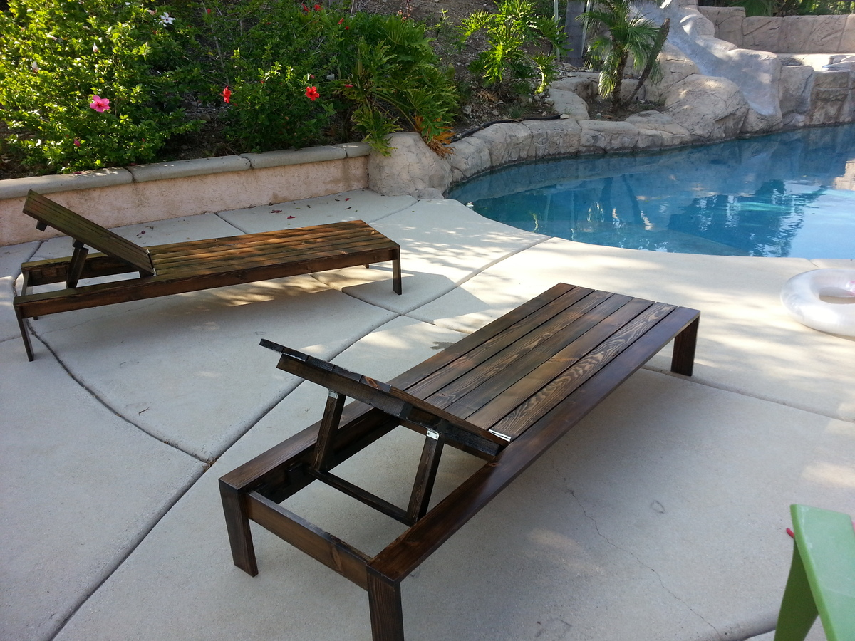 Pool Lounge Chairs - DIY Projects