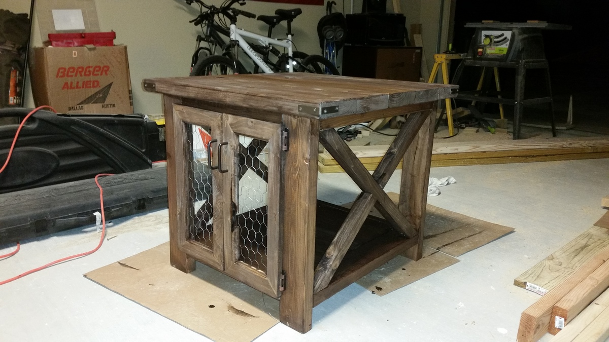 Ana White Richards Rustic X End Table With Chicken Wire