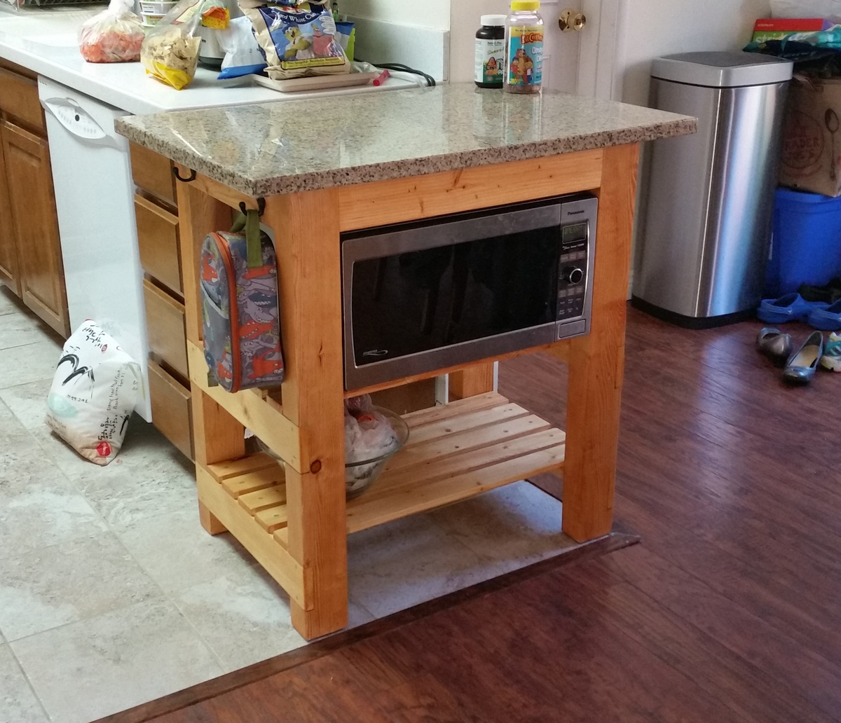 Build Michaela S Kitchen Island Diy Projects: Granite Top Kitchen Island - DIY Projects