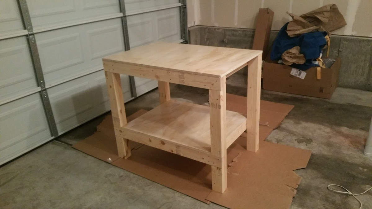 Ana White Small Garage Workbench Diy Projects