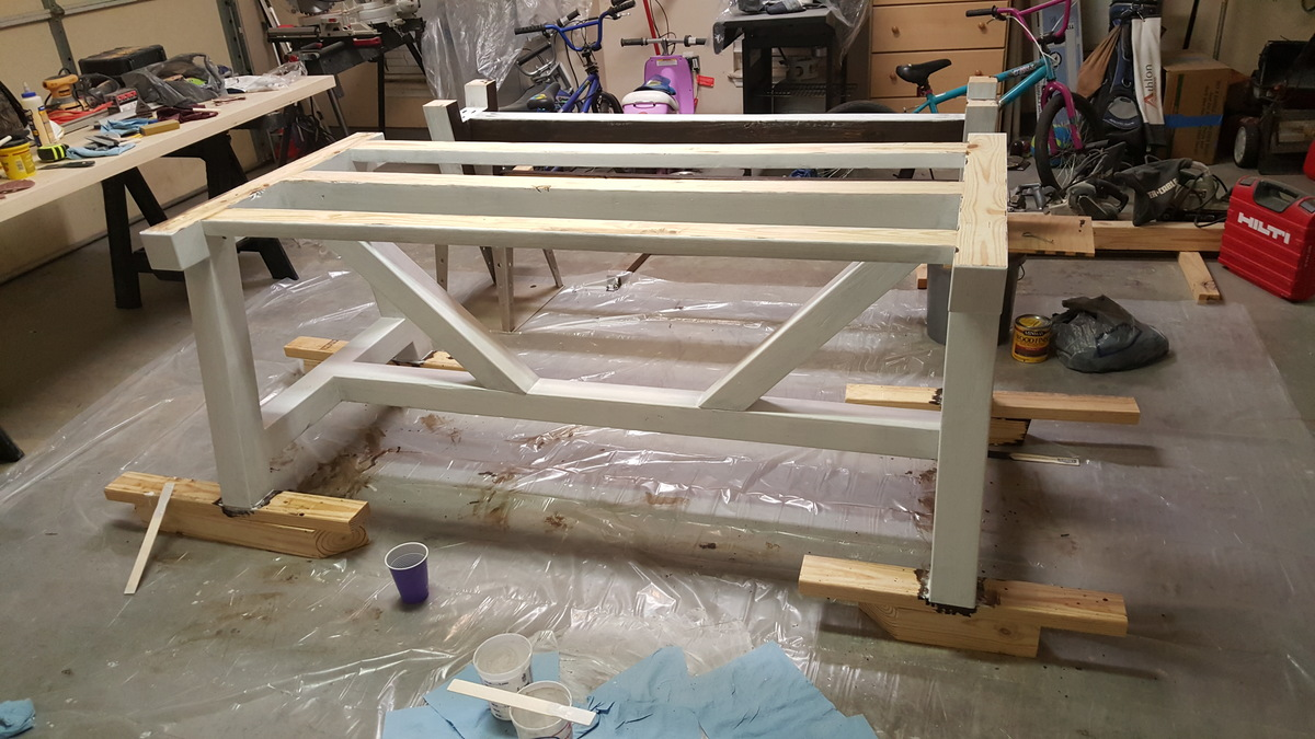 Ana White 4x4 Truss Beam Table Amp Bench Diy Projects