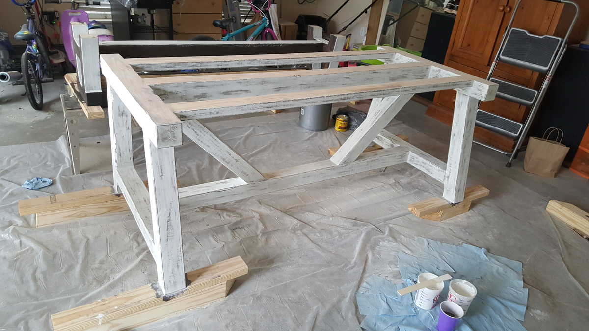 Ana White | 4x4 Truss Beam Table & Bench - DIY Projects