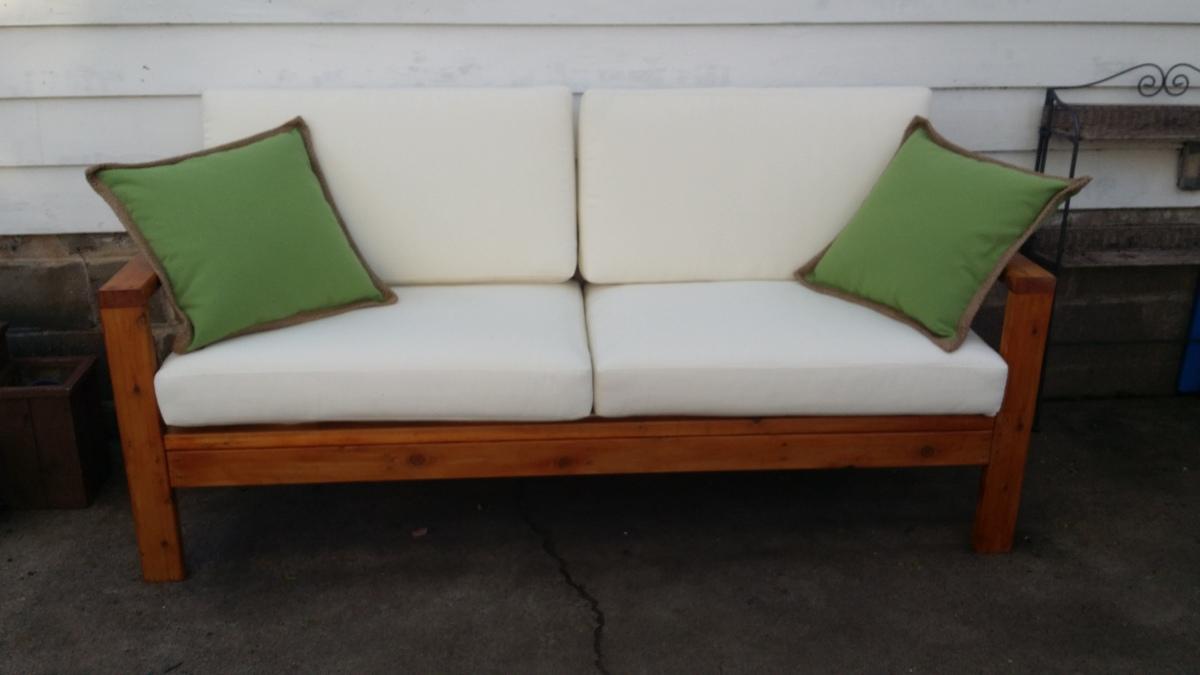 Sofa Pottery Barn Cushions Ana White