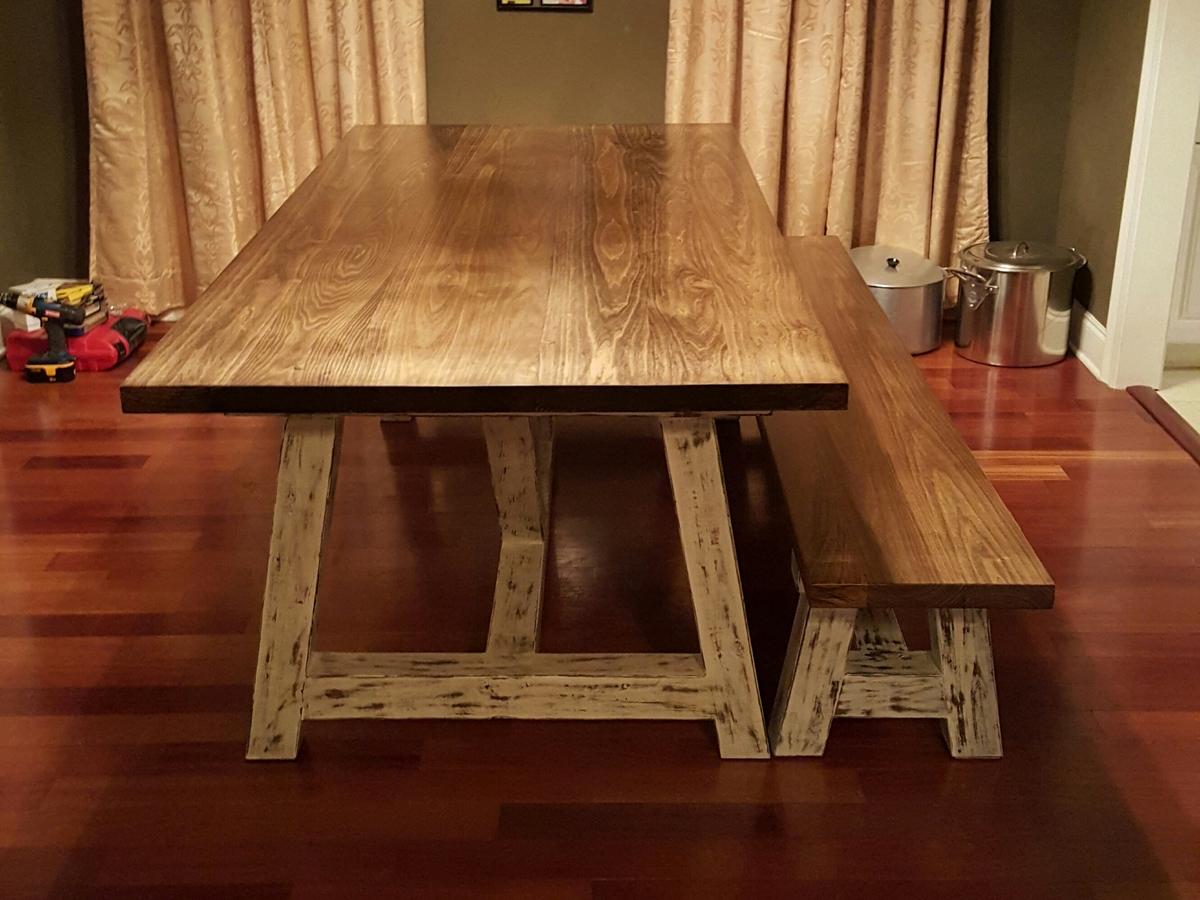 Astounding 4X4 Truss Beam Table Bench Ana White Machost Co Dining Chair Design Ideas Machostcouk