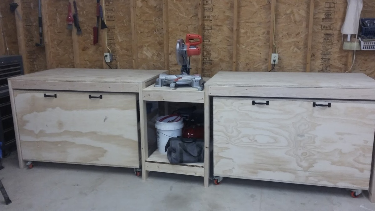 Superb Miter Saw Stand With Rolling Tool Storage Carts Ana White Ncnpc Chair Design For Home Ncnpcorg