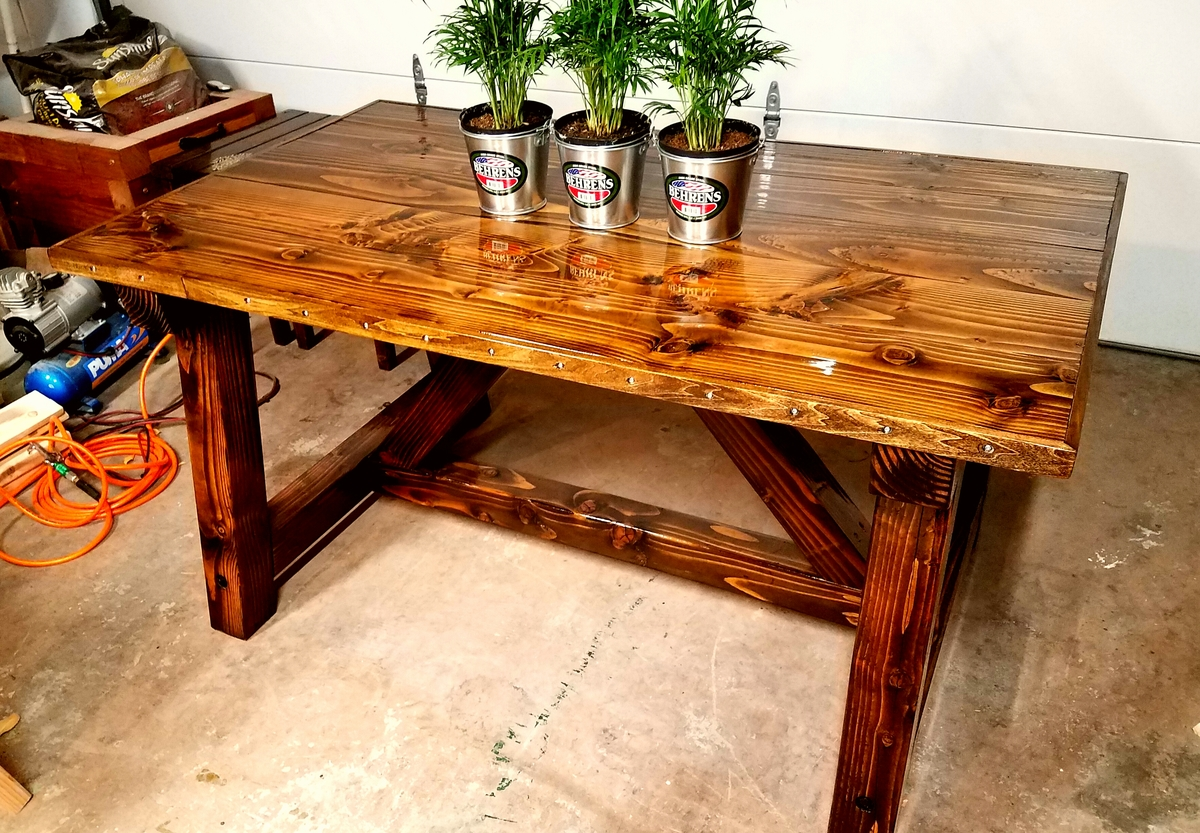 Ana White   Truss Beam Table 35x60 size - DIY Projects