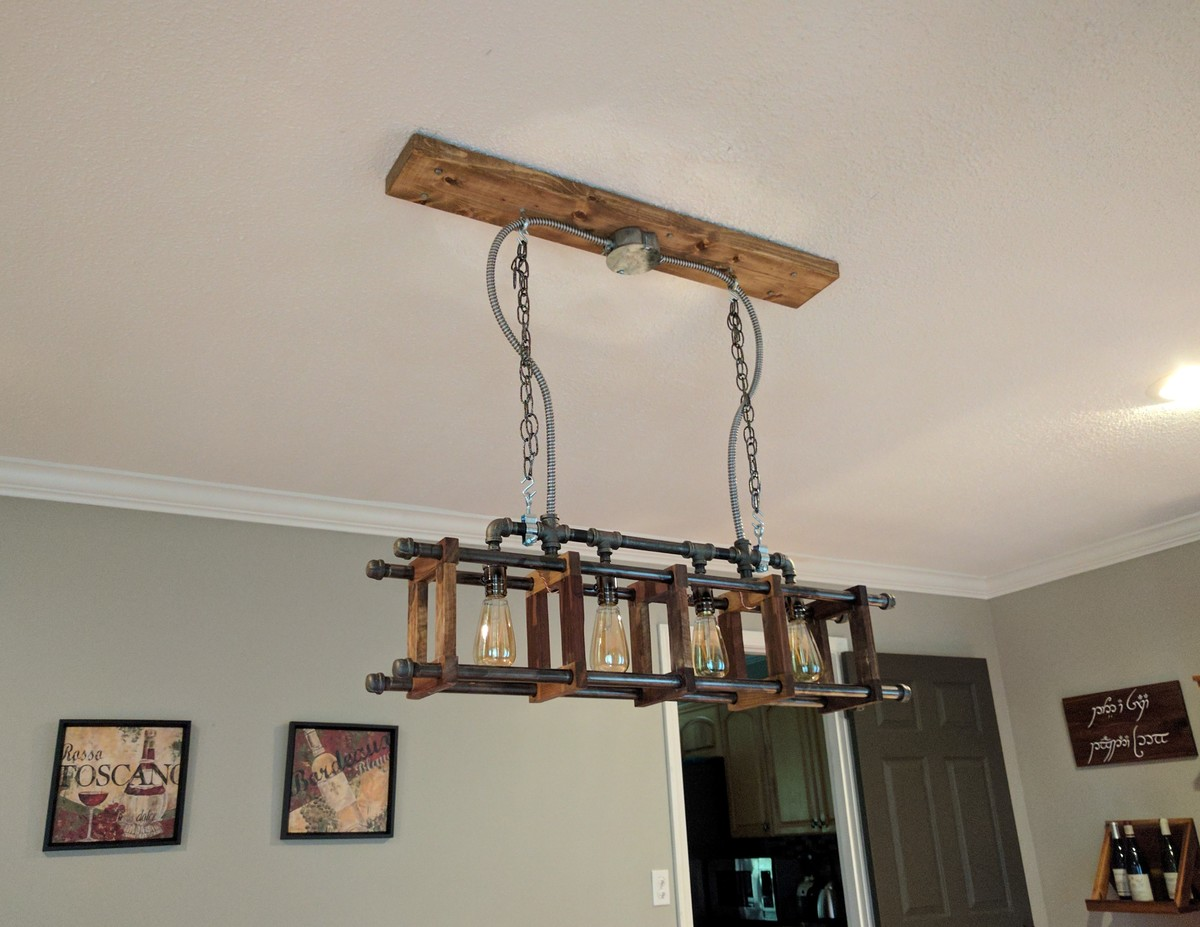 Ana white industrial chandelier diy projects aloadofball Choice Image
