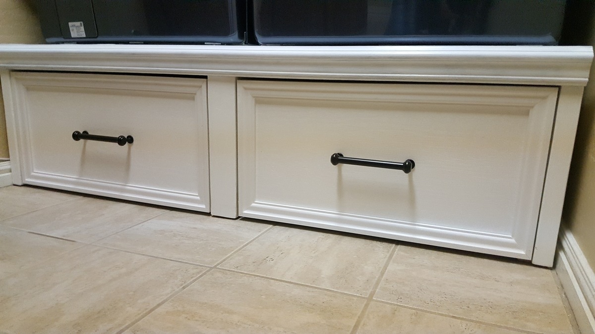 Ana White Washer Dryer Pedestal With Flush Front Drawers