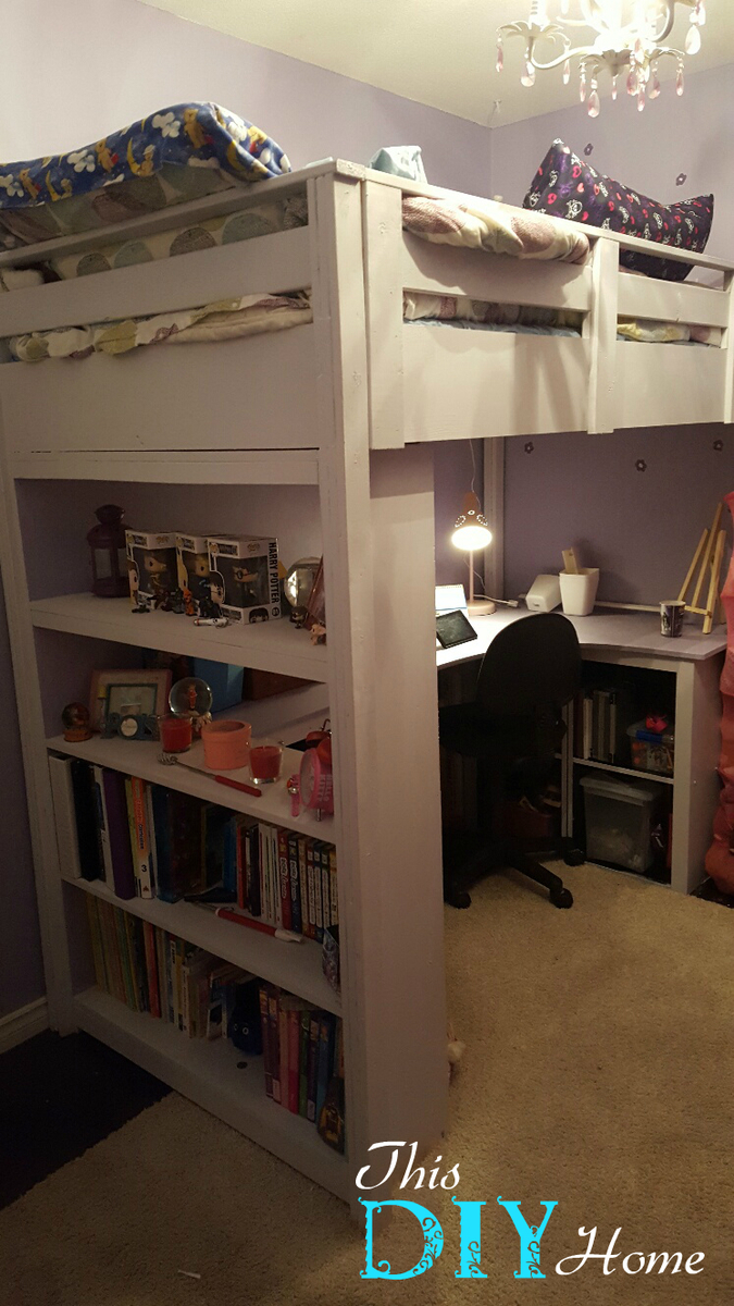 Loft Bed With Desk Amp Bookcase Ana White