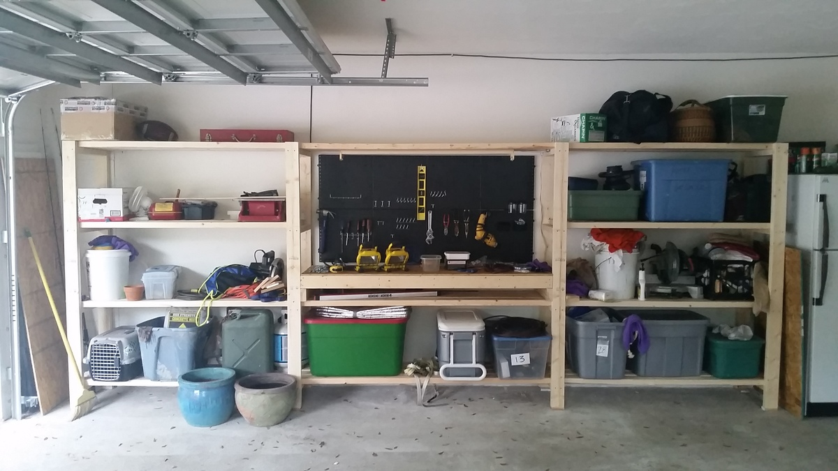 building nonsense storage diy garage pinterest shelf ideas overhead no pulley shelving pin
