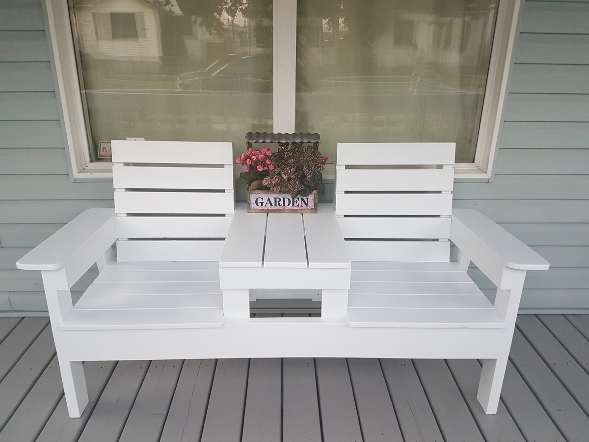 Diy Double Chair Bench With Table Ana White