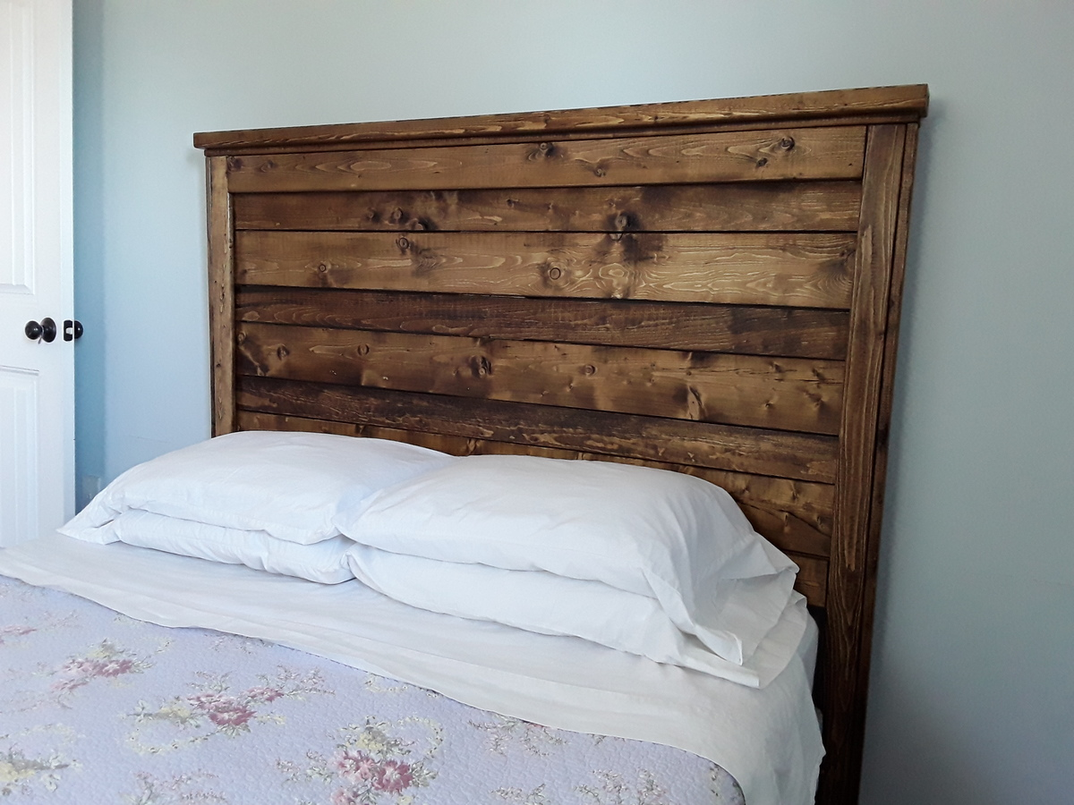 Reclaimed Wood Headboard, Queen Size - DIY